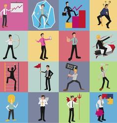 Office worker cartoon set vector