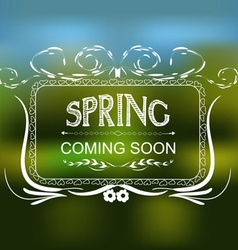 Spring coming soon typographic design vector