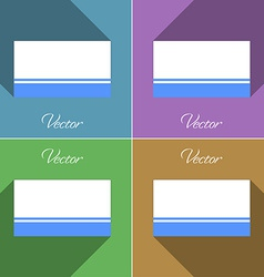 Flags altai republic set of colors flat design and vector