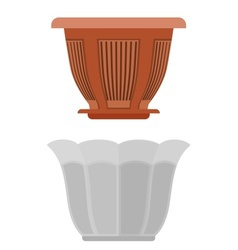 Pot for flowerpot flower vector