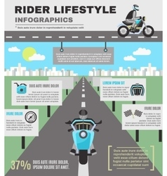 Rider infographics set vector