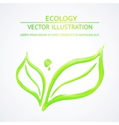 Liquid green leaves vector