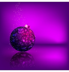 Background with stars and christmas ball eps 8 vector