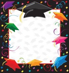 Graduation party invitation vector