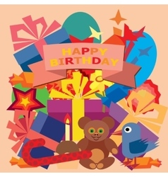 Card for birthday greetings vector