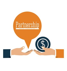Partnership design vector