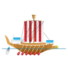 Ancient egyptian warship vector