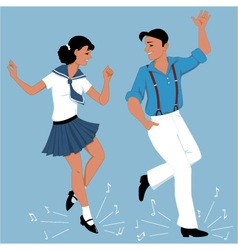 Tap dancing couple vector