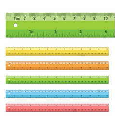 Rulers in centimeters  inches vector