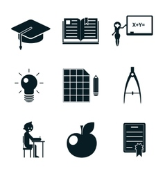 School icons isolated vector