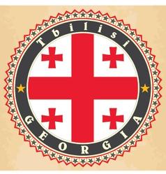 Vintage label cards of georgia flag vector