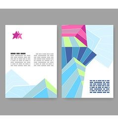 Flyer leaflet booklet layout editable design vector