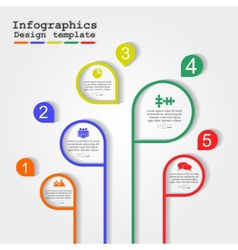Infographic report template with lines and icons vector