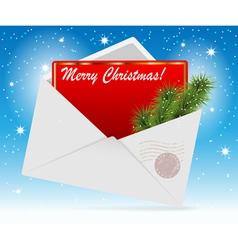 Envelope card vector