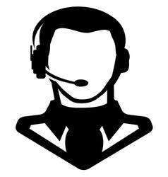 Businessman icon call centar1 vector