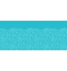 Molecular structure horizontal seamless pattern vector