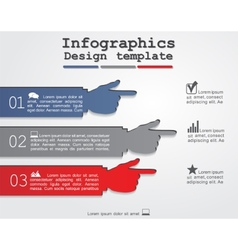 Infographic report template with hands vector