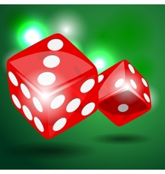 Red dice vector
