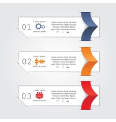 Infographic report template with text and icons vector