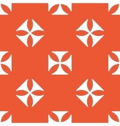 Orange maltese cross pattern vector