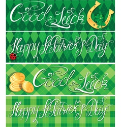 Happy st patricks day and good luck shamrock vector