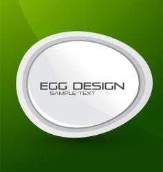 Egg design background vector