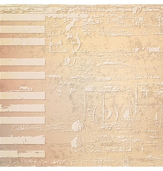 Abstract beige grunge background with piano keys vector