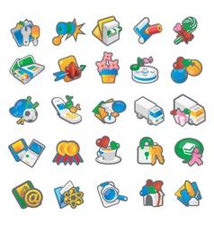 Set of cartoon icon 2 vector