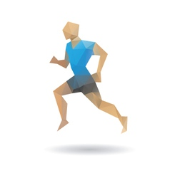 Sports man running vector