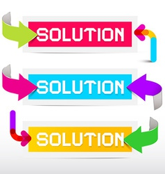 Solution colorful stickers - labels set with vector