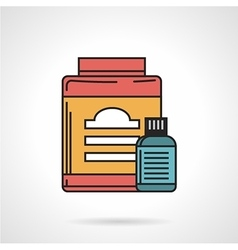 Flat icon for sport supplements jars vector