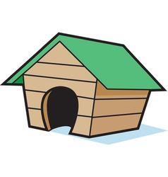 Cartoon empty dog house vector