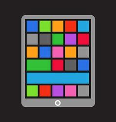 Modern tablet gadget vector