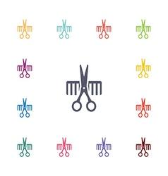 Barbershop flat icons set vector