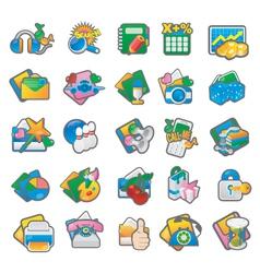 Set of cartoon icon 3 vector