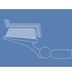 Toothbrush vector