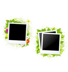 Blank photos vector