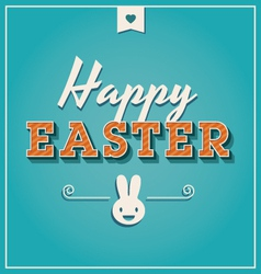 Happy easter cards font vintage retro vector