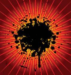 Grunge explosion vector
