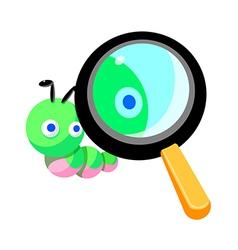 Icon worm vector