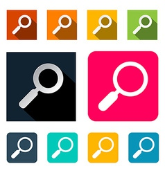 Magnifying glass search flat design vector