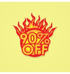 Fiery discount vector