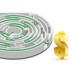 Business circular labyrinth vector