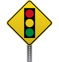 Traffic signal sign vector