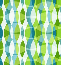 Green curves seamless pattern with grunge effect vector