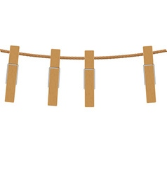 Clothespins on rope vector