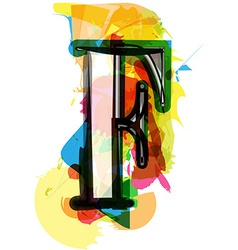 Artistic font - letter f vector