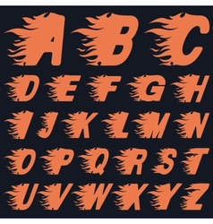 Abc fire letters vector