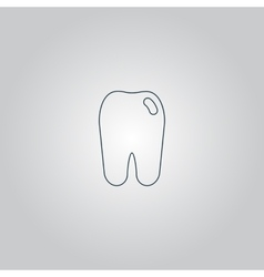 Tooth icon flat symbol vector