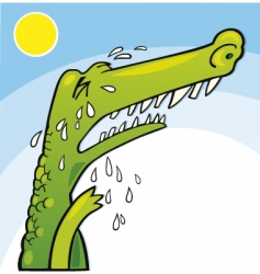 Crying crocodile vector